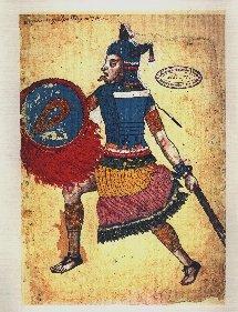Nezahualcóyotl como es mostrado en el códice Ixtlilxóchitl (100 años después de su muerte)