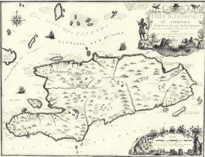 La Española o Santo Domingo, Mapa Francés del siglo XVIII