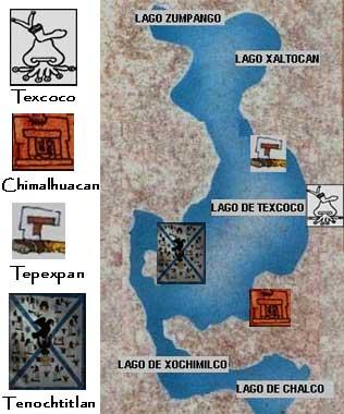 Cuenca de México en la época precolombina, hoy distrito Federal y Edo. de México